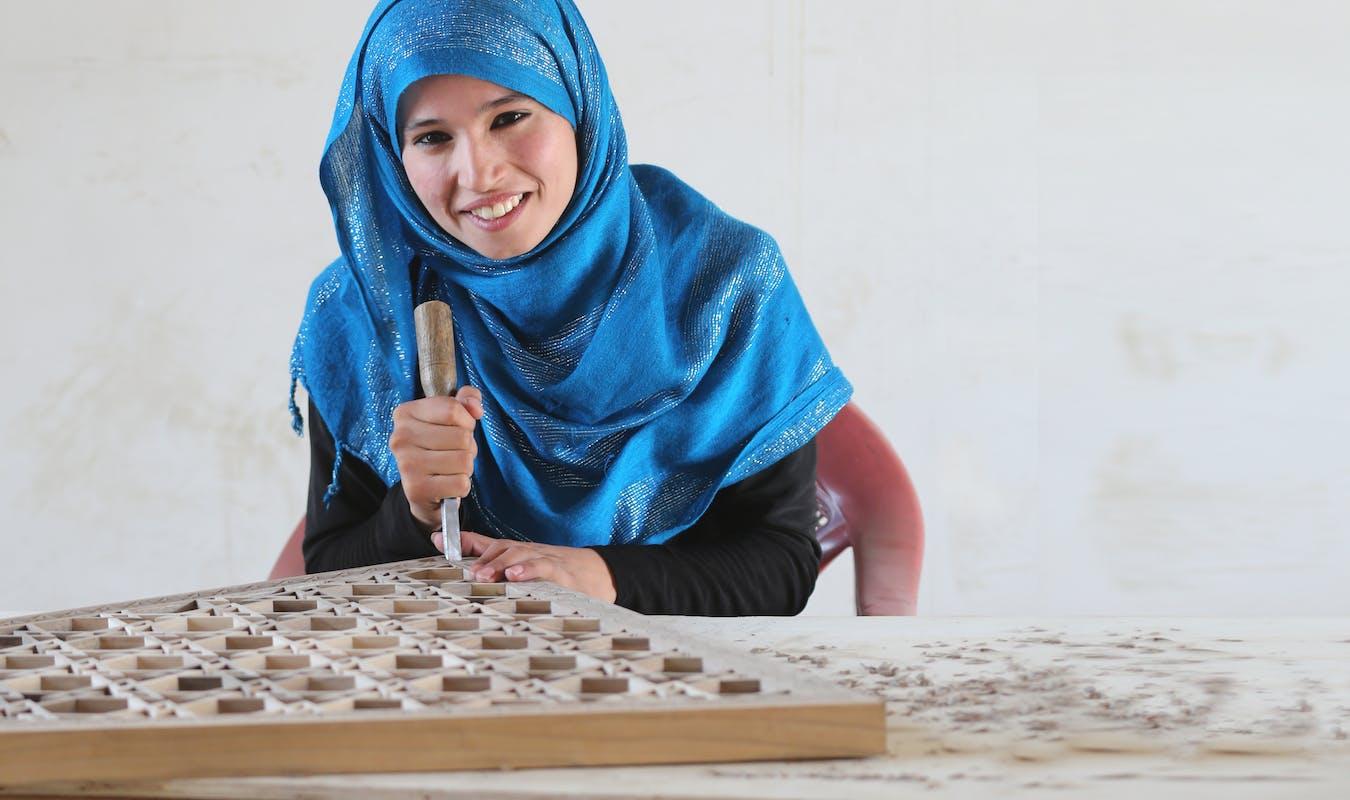2013 10 12 TMI Woodwork Student Khadija 2 1