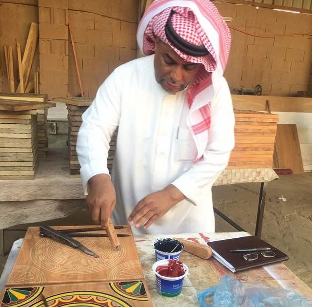 Ahmad Al Fozan in his workshop Uneiza Al Qaseem May 2017 1