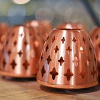 Copper Candle Holder With lid