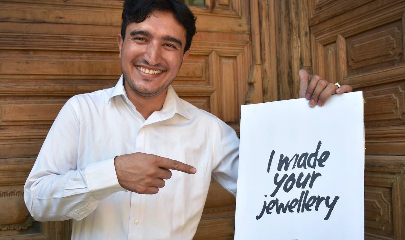 Sayed Ayub Sadat Founder of Sapphire Jewelry Company Credit Turquoise Mountain