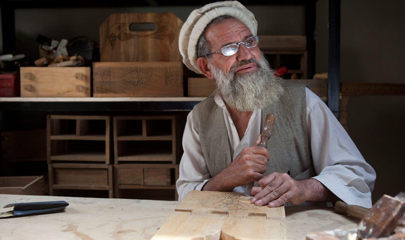 Turquoise Mountain Woodwork Nuristani Master Sayed Jan 1
